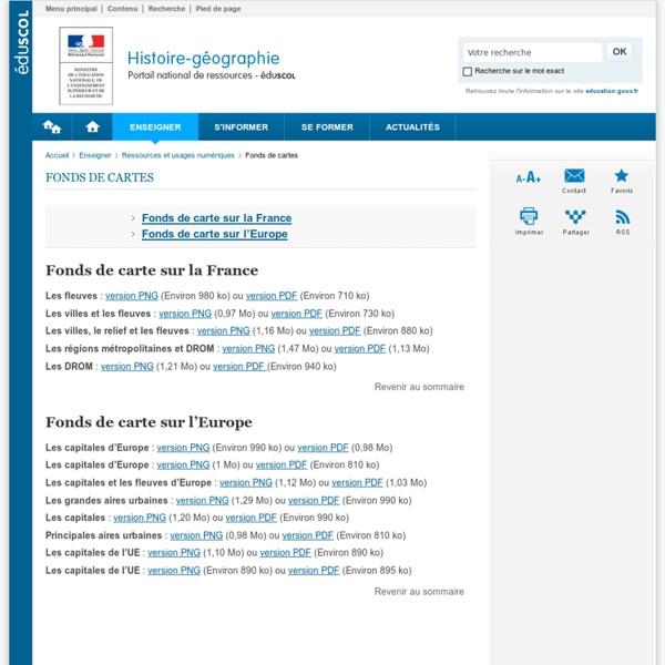 Fonds de cartes-Histoire-géographie et éducation civique-Éduscol