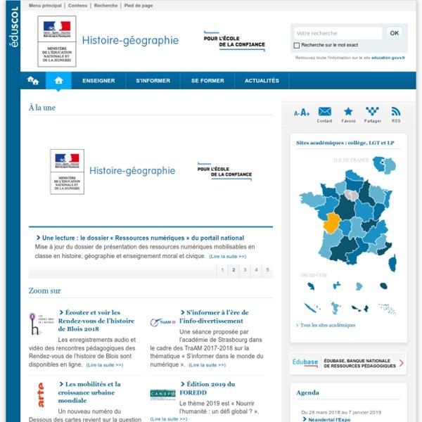 Histoire-Géographie-Éduscol