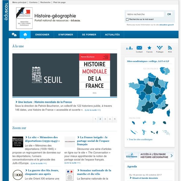 Histoire-géographie et éducation civique-Éduscol