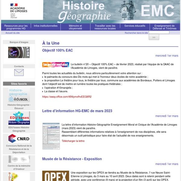 Histoire Géographie Limoges
