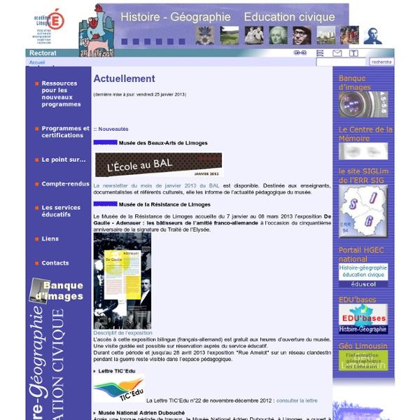 Histoire - Géographie Limoges