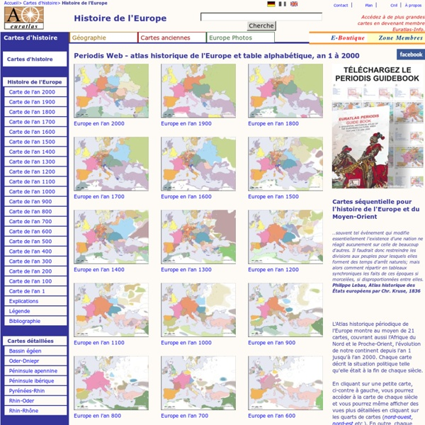 Histoire de l'Europe - Atlas historique périodique Euratlas