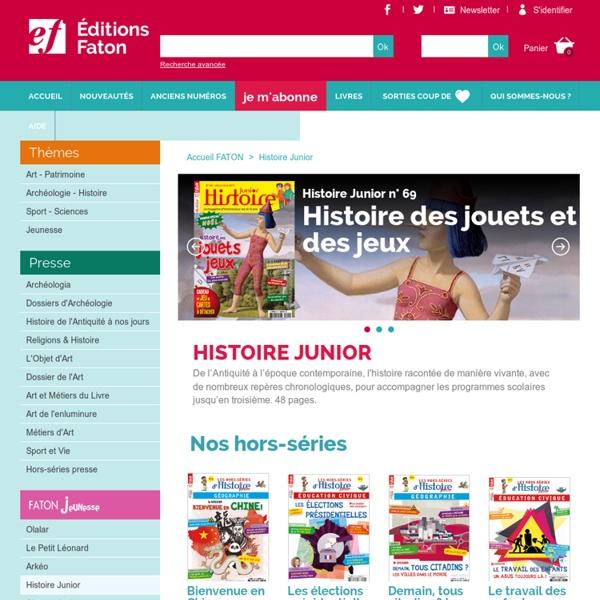 Histoire Junior - Revue histoire - Abonnement junior
