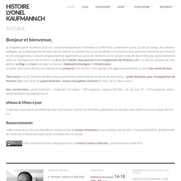 Histoire.lyonelkaufmann.ch — Didactique de l'histoire