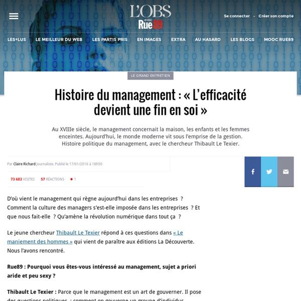 Histoire du management: «L'efficacité devient une fin en soi»