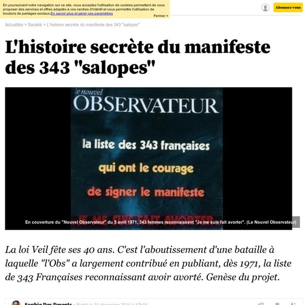 """L'histoire secrète du manifeste des 343 """"salopes"""" - L'Obs"""
