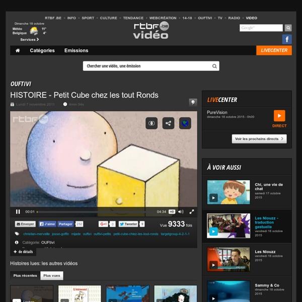 HISTOIRE - Petit Cube chez les tout Ronds du 4 novembre 2011, Histoires lues : RTBF Vidéo