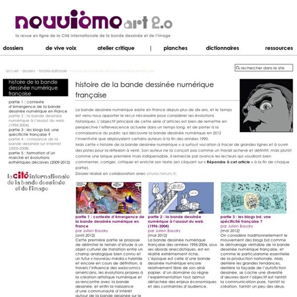 Histoire de la bande dessinée numérique française