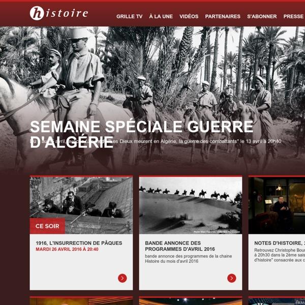 Site officiel de la chaîne. Programmes et vidéos Histoire.