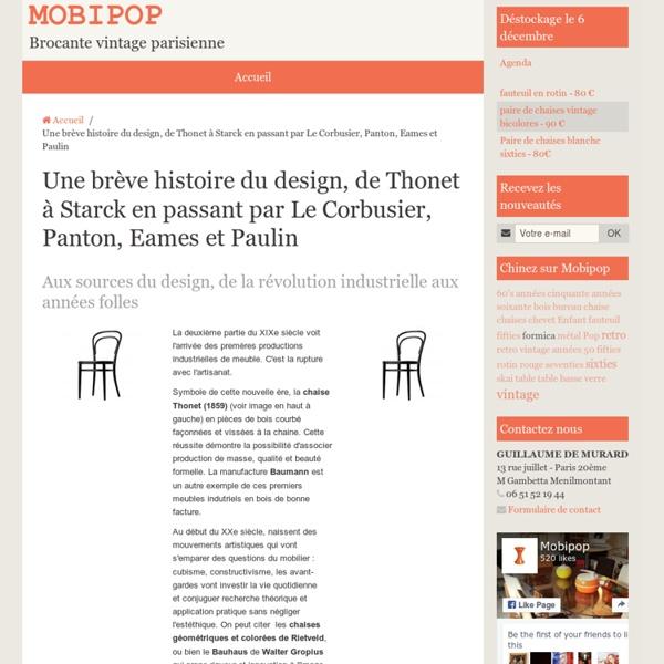 une br ve histoire du design de thonet starck en. Black Bedroom Furniture Sets. Home Design Ideas