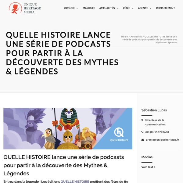 QUELLE HISTOIRE - Podcats gratuits de Mythes & Légendes du monde