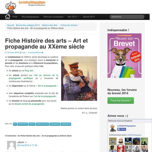 Fiche Histoire des arts - Art et propagande au XXème siècle