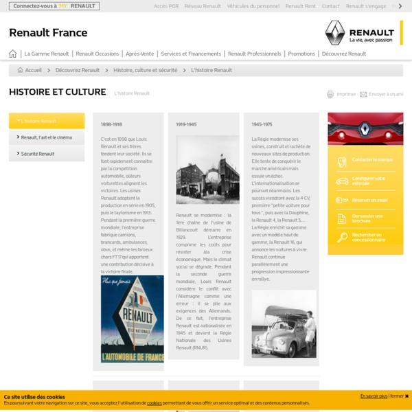 L' histoire Renault - Histoire et culture - découvrez Renault