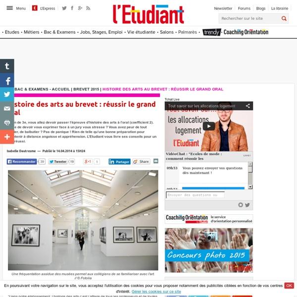 Histoire des arts au brevet : réussir le grand oral