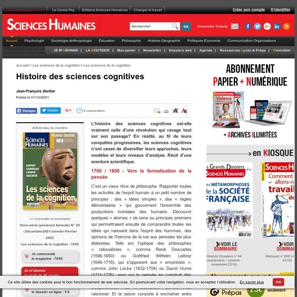 Histoire des sciences cognitives