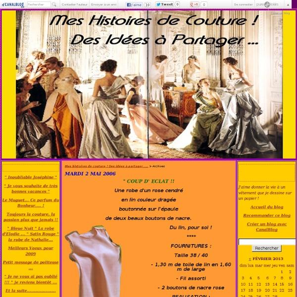 Mes histoires de couture ! Des idées à partager .... - Page 11 - Mes histoires de couture ! Des idées à partager ....