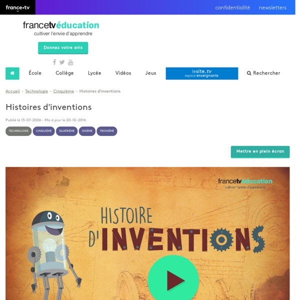 Histoires d'inventions