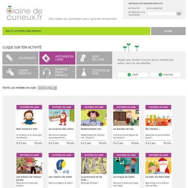 Histoires pour enfants en ligne