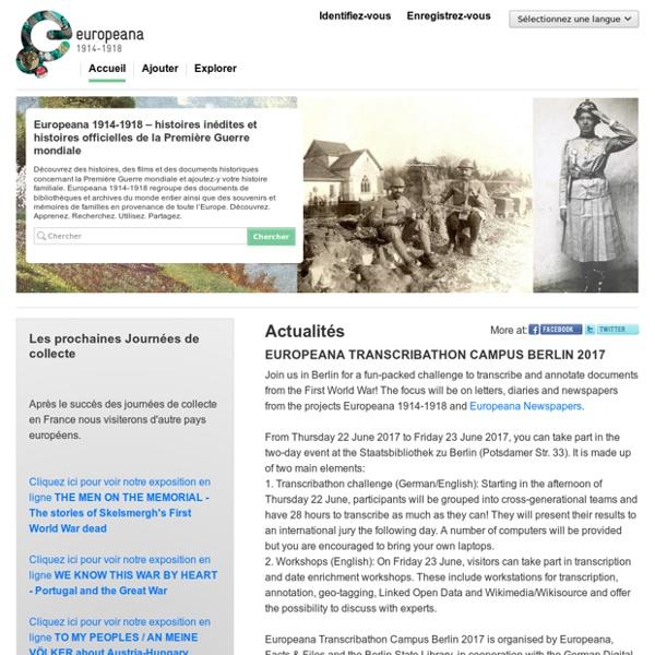 Histoires inédites et histoires officielles de la Première Guerre mondiale