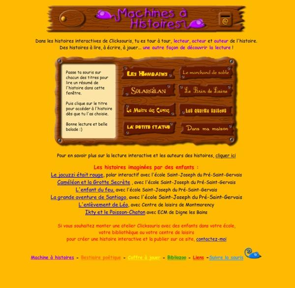 La machine à histoires, histoires interactives pour enfants, ateliers d'écriture