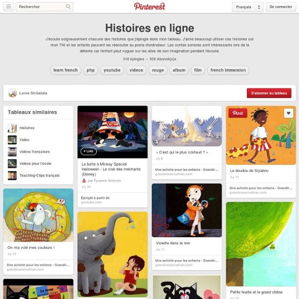 Histoires en ligne sur Pinterest