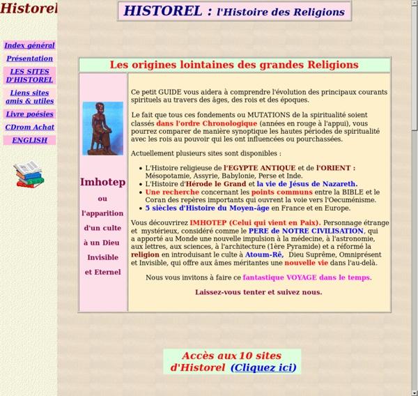 Historel : l'Histoire des Religions