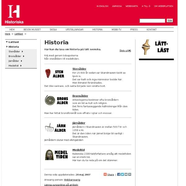 Lättläst om Historia