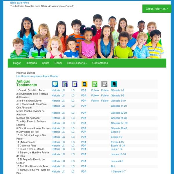 Biblia para Niños » Historias Bíblicas Gratuitas para Bajar