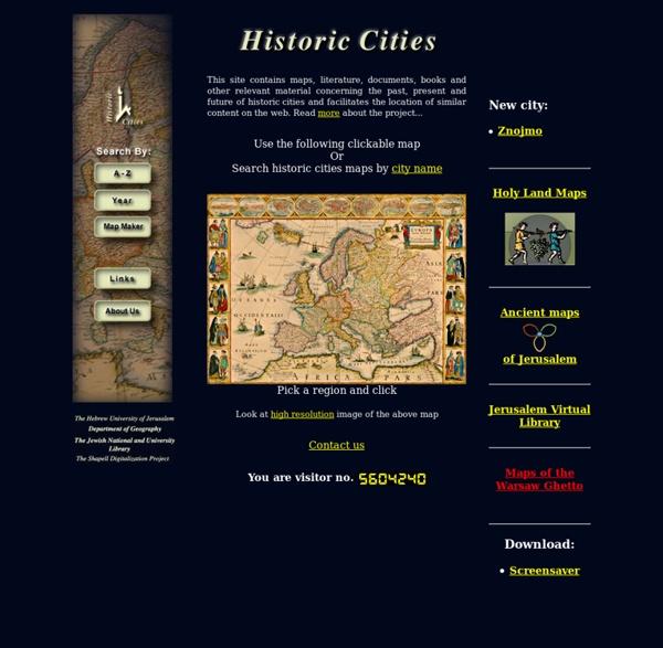 Historic Cities: Maps & Documents