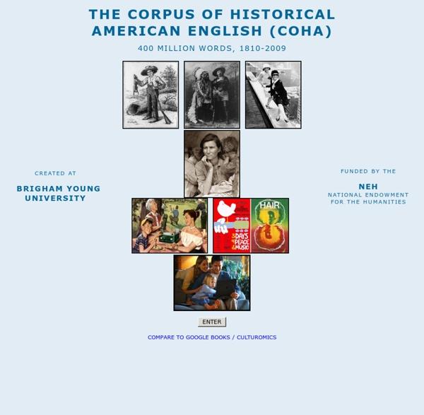 Corpus of Historical American English (COHA)