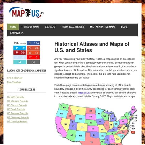 Historical Atlases and Maps of U.S. and States