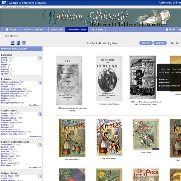 UFDC - Baldwin Library of Historical Children's Literature