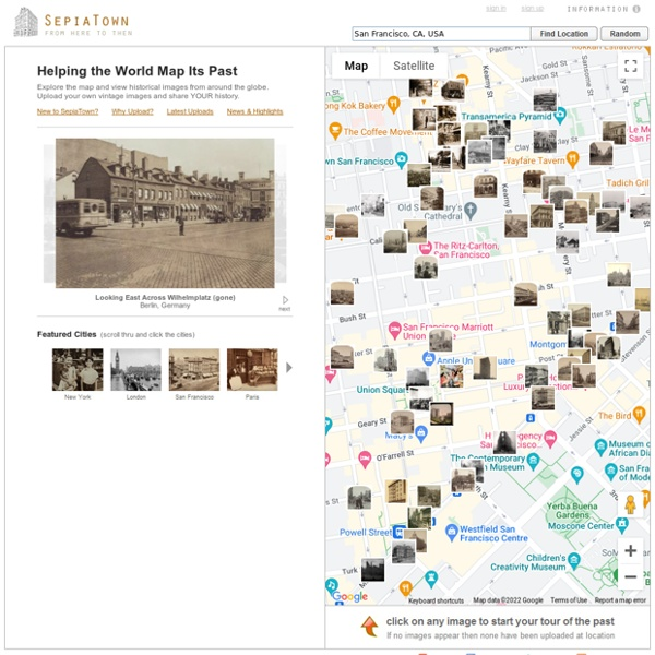 Mapped historical photos from collections large and small