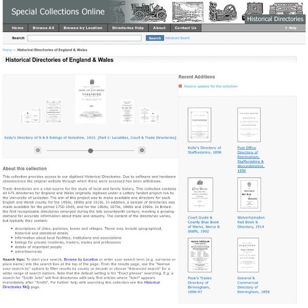 Historical Directories