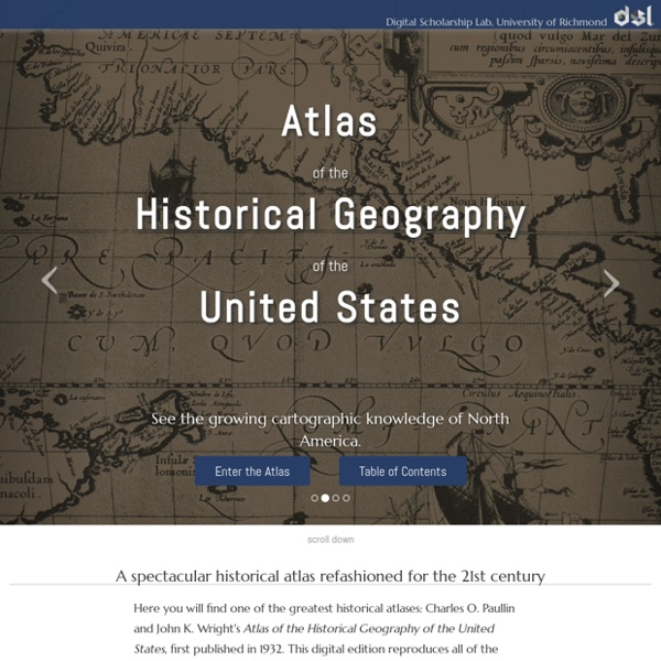 Atlas of the Historical Geography of the United States