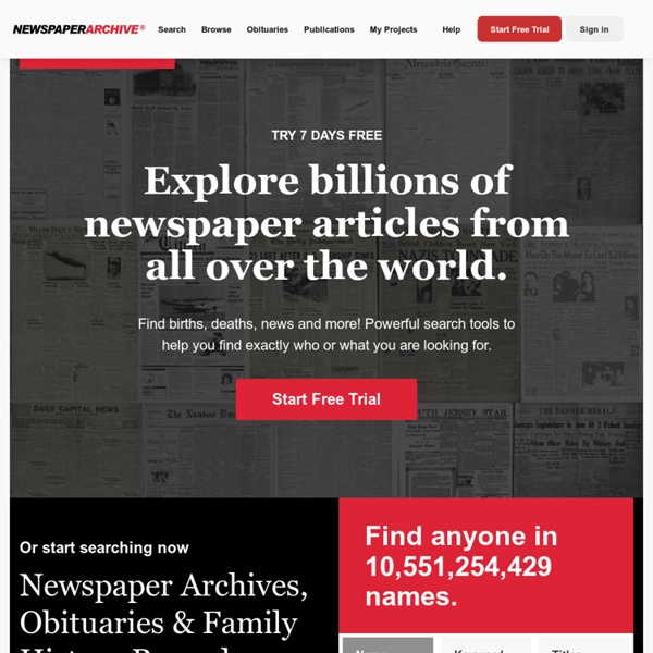 Explore Historical Newspapers Online