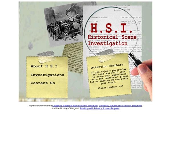 HSI: Historical Scene Investigation