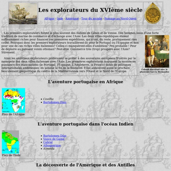 Publius Historicus: Les explorateurs