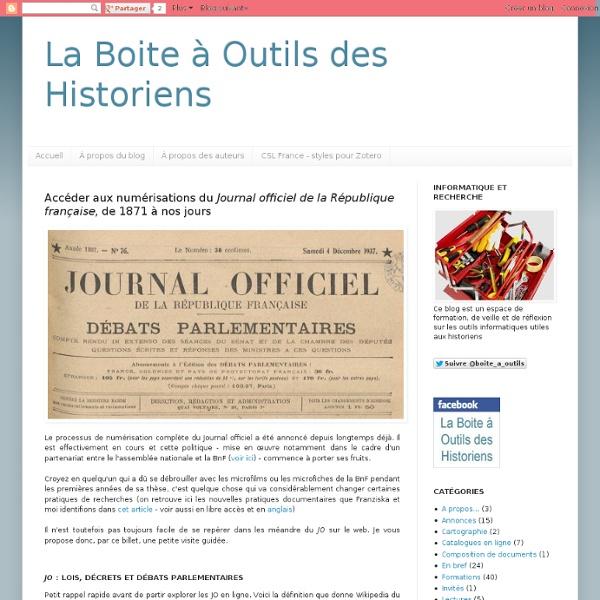 Journal Officiel de 1871 à nos jours