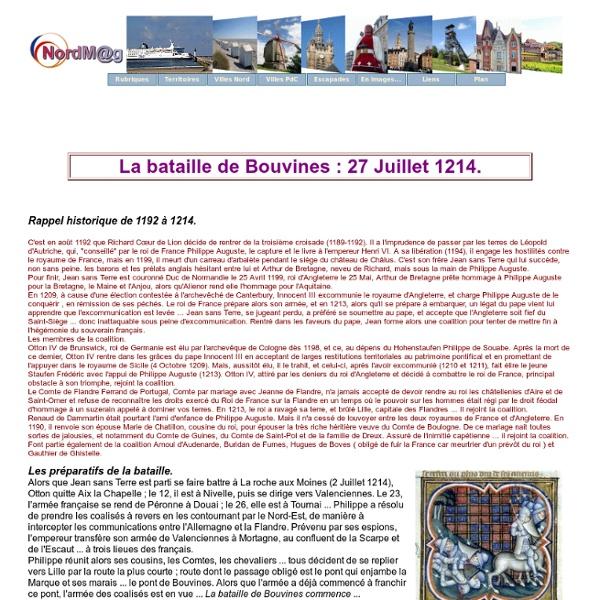 Historique Bouvines, la bataille