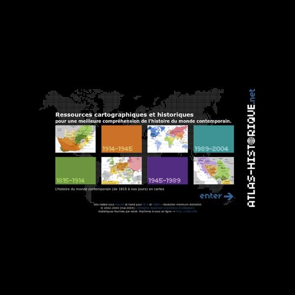 Atlas historique : cartographie & histoire