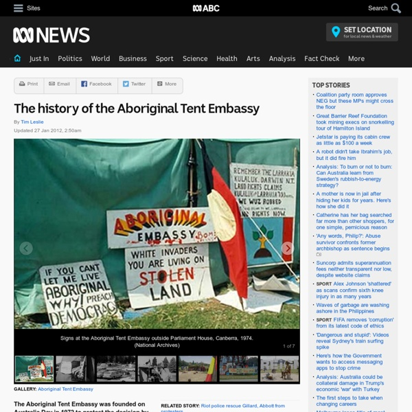 The history of the Aboriginal Tent Embassy