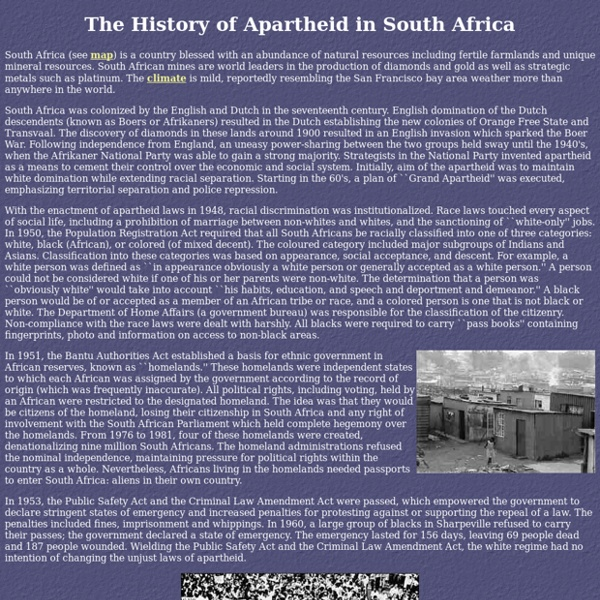 apartheid in south africa essays