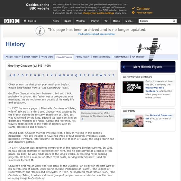 History - Geoffrey Chaucer