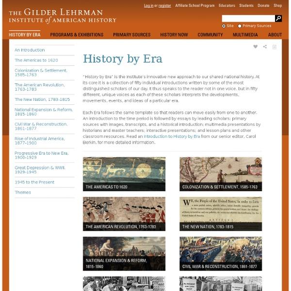 History by Era