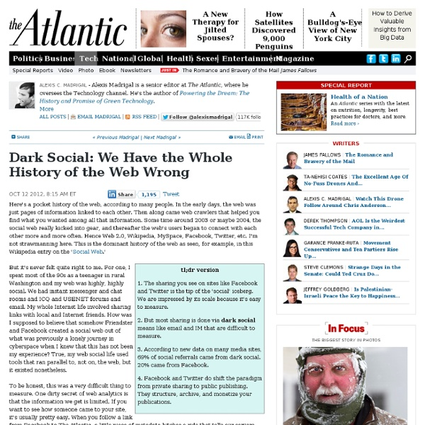 Dark Social: We Have the Whole History of the Web Wrong - Alexis C. Madrigal