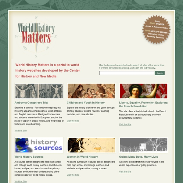 World History Matters » A Portal to World History Sites from the Center for History and New Media