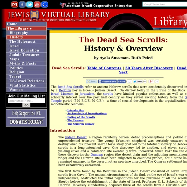 ancient hebrew scrolls accidentally discovered by a boy 11082010 recent finding of god's end time message to  the first of these ancient hebrew scrolls recovered at qumran were accidentally discovered in.