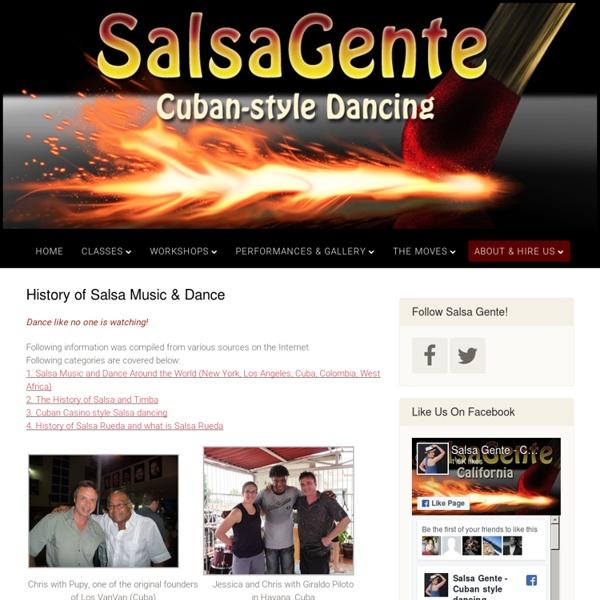 History of Salsa Music & Dance - SalsaGente