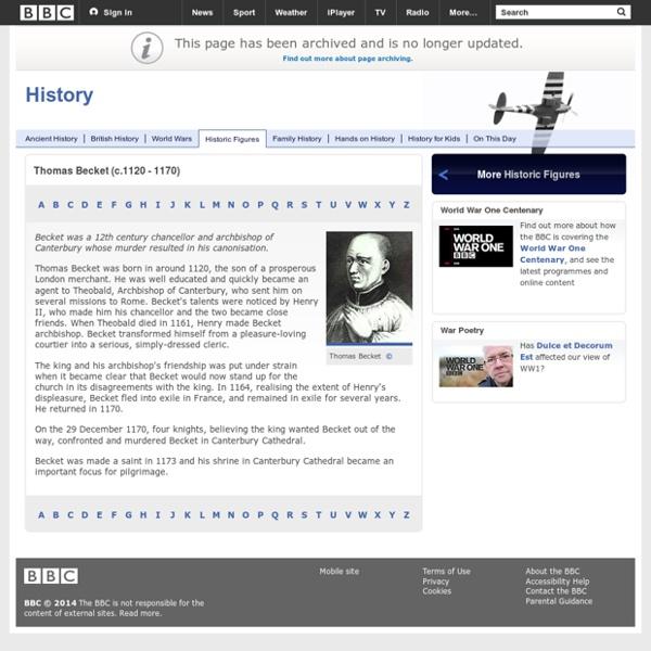 History - Thomas Becket